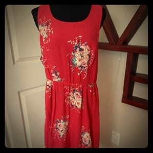 Fuscia and floral sun dress